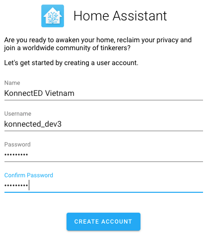 Home Assistant Create Owner User