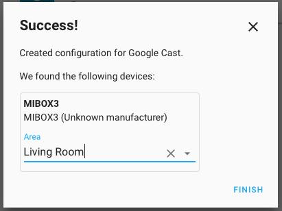 Mibox 3 Google Cast Area Assign