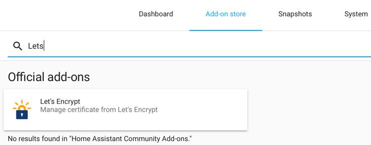Hass Letsencrypt Addons